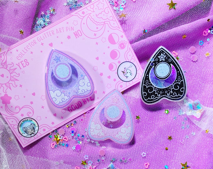 LAST ONE - Planchette Collector Glitter Art Pin