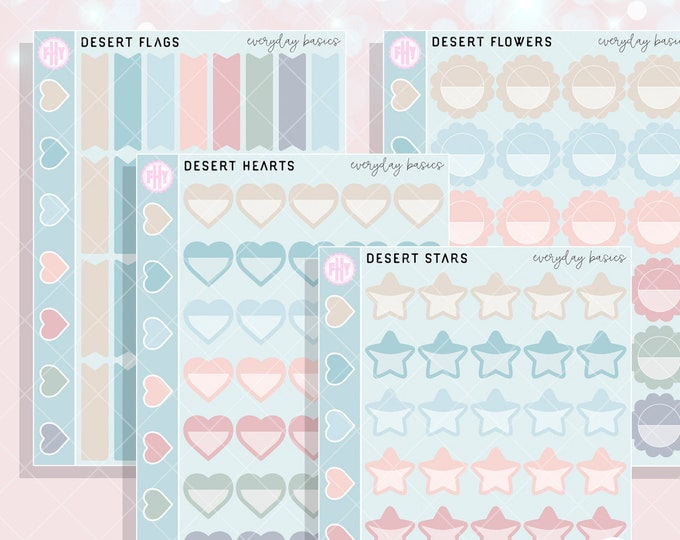 Desert Colorway - FHY Basics Planner Stickers