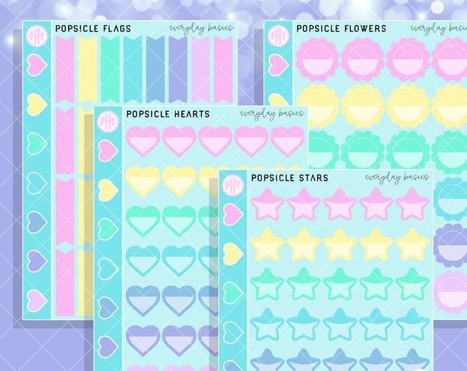 Popsicle Colorway - FHY Everyday Basics Planner Stickers
