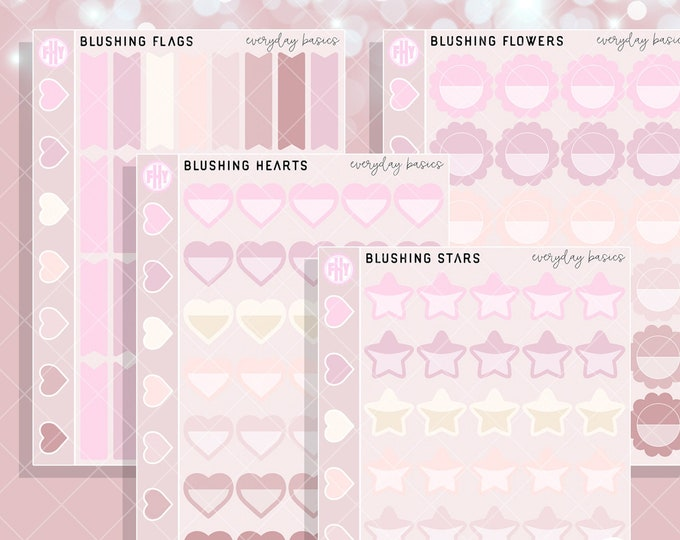 Blushing Colorway - FHY Everyday Basics Planner Stickers