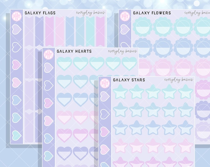 Galaxy Colorway - FHY Everyday Basics Planner Stickers