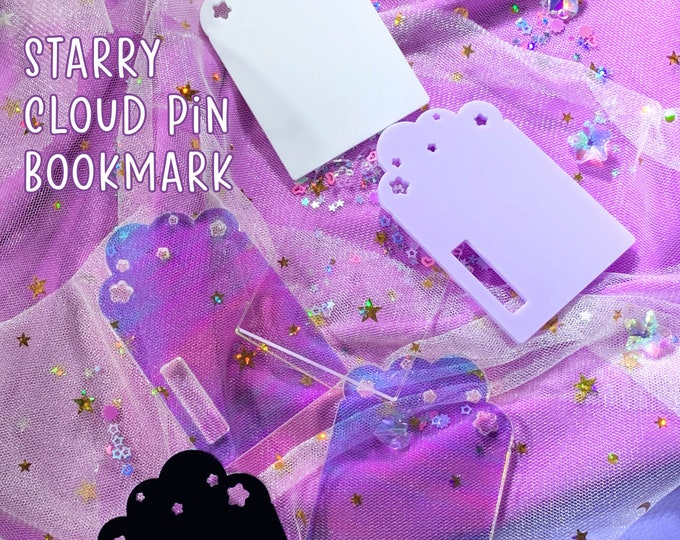 LAST STOCK - Starry Cloud Pin Bookmark for Rings Planners