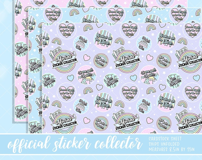 Official Sticker Collector - Paper 3 Pack