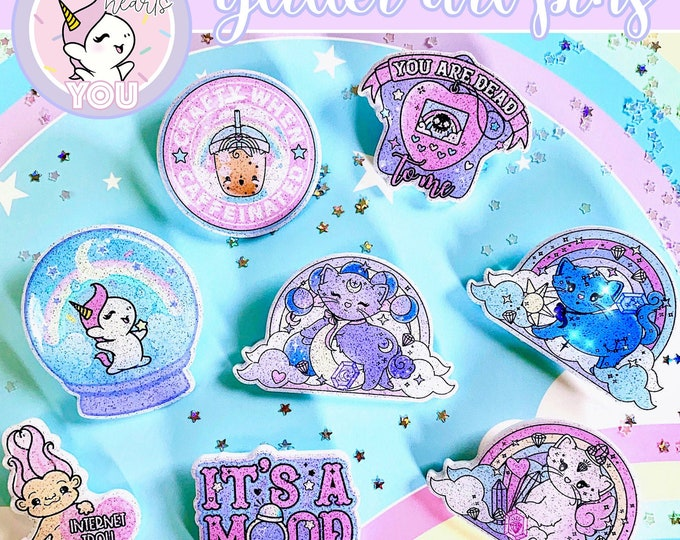 LAST STOCK - Glitter Art Pins - Sold Per Pin!