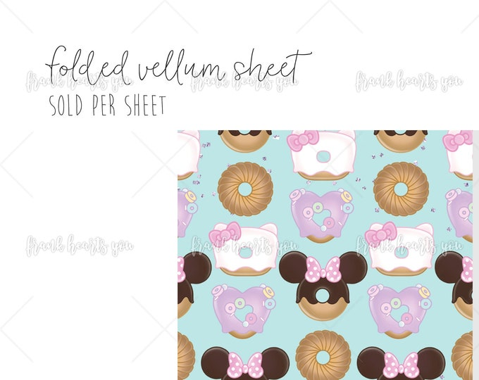 Chubby Donut Pattern - 1 Sheet Folded Vellum