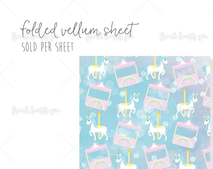 Carnival Dreams - 1 Sheet Folded Vellum