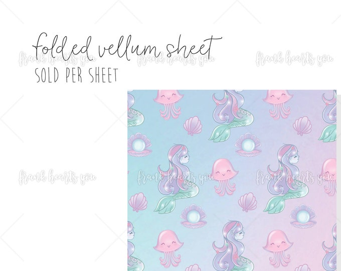 Rainbow Sea Pattern - 1 Sheet Folded Vellum