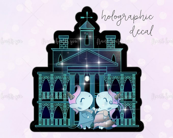 ENDS This *SUNDAY* - Holo Haunted Mansion Sparkle Overlay Decal