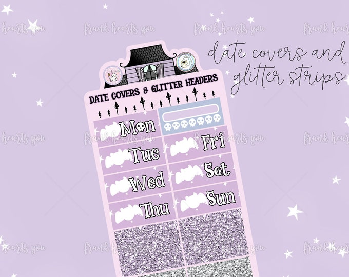 ENDS This *SUNDAY* - No Tricks Only Treats - Date Covers and Faux Glitter Strips - Add On Sheet Collab