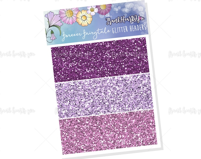 Forever Fairytale Glitter Headers - Add On Mini Sheet