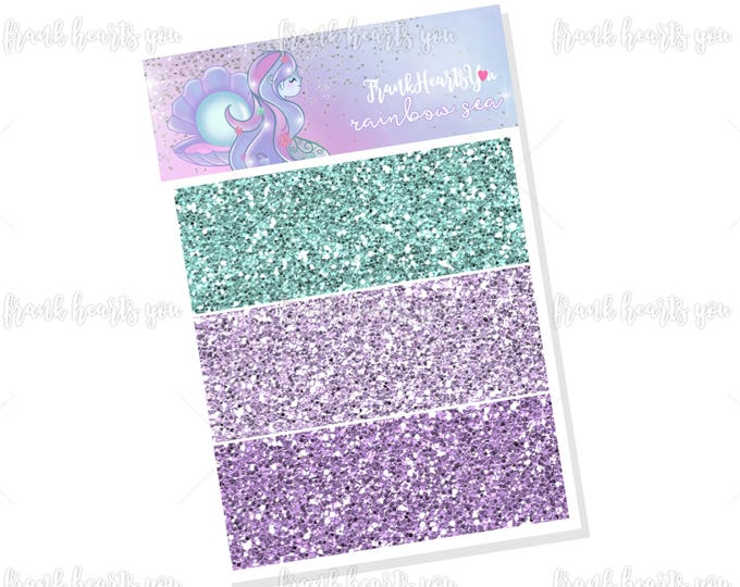 Rainbow Sea Faux Glitter Headers - Add On Mini Sheet