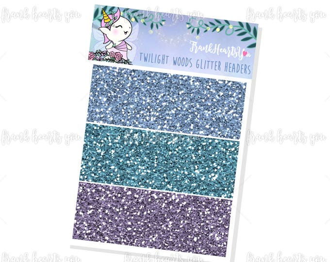 Twilight Woods Faux Glitter Headers - Add On Mini Sheet