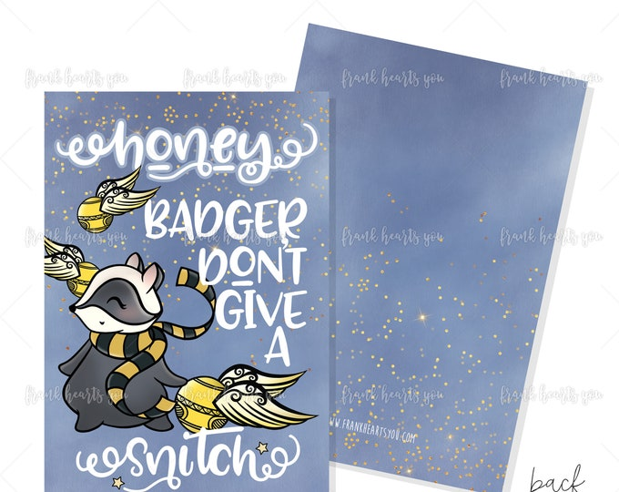 Honey Badger Snitch Print - 5x7 Inches