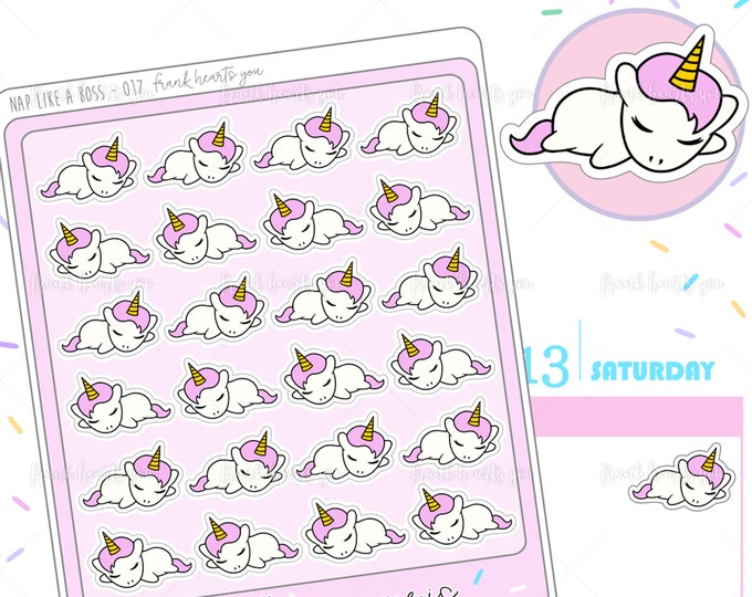 Nap Like A Boss - Sprinkles Sleeping/Nap Planner Stickers - 017