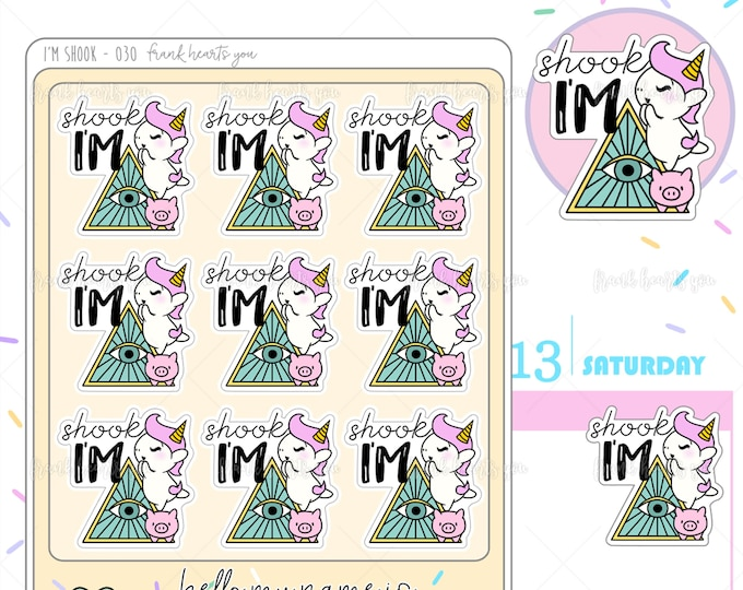 I'm Shook - Sprinkles Illuminati Shane Planner Stickers - 030