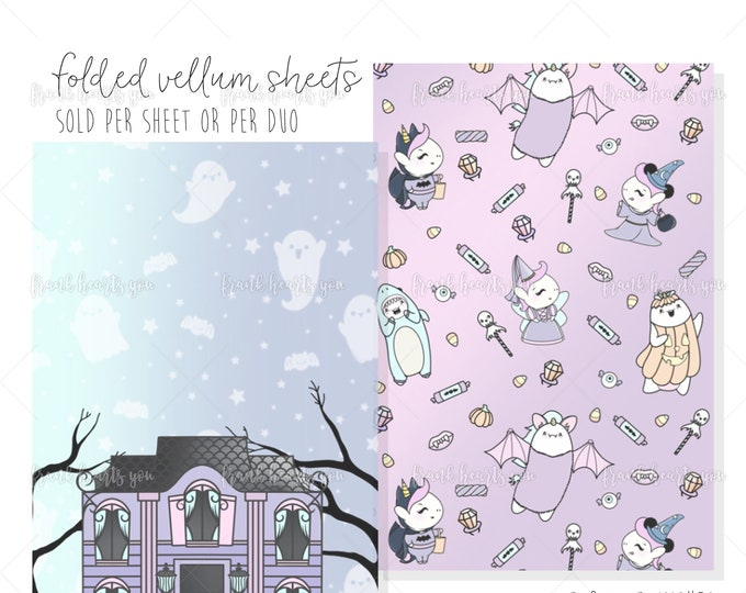 ENDS This *SUNDAY* - Folded Vellum - No Tricks Only Treats Collab - Select Your Sheets!