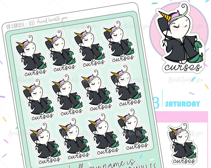 Oh Curses! - Sprinkles Lord V. Unforgivable Curses Planner Stickers - 031