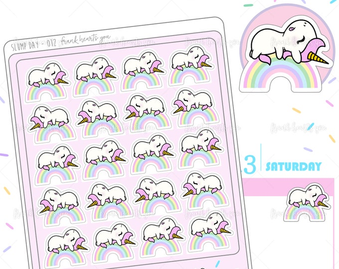 Slump Day - Sprinkles Tired Planner Stickers - 012