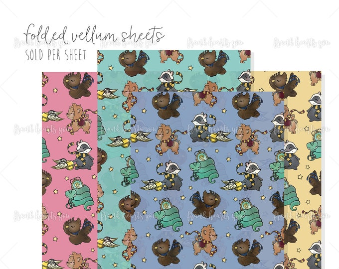 Folded Vellum - House Sorted! - SELECT YOUR SHEETS!