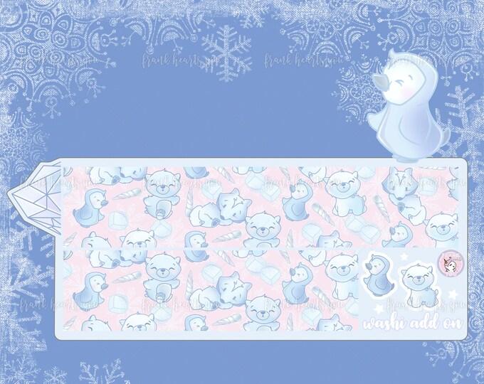 Last Stock! Ice Ice Baby - Add On Washi Sheet