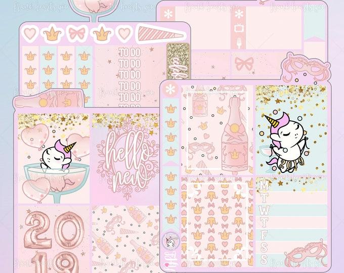 Last Day! Happy NYE - Pink Bubbly - Sprinkles the Unicorn - Mini Kit