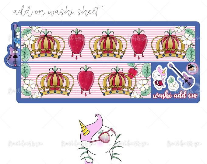 Overstock! Strawberry Fields Washi - Add On Mini Sheet