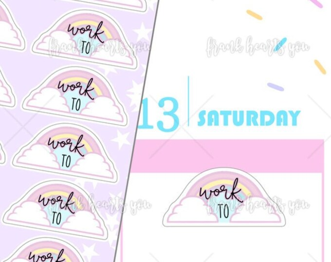 Rainbow Work Planner Stickers - Mini Sheet