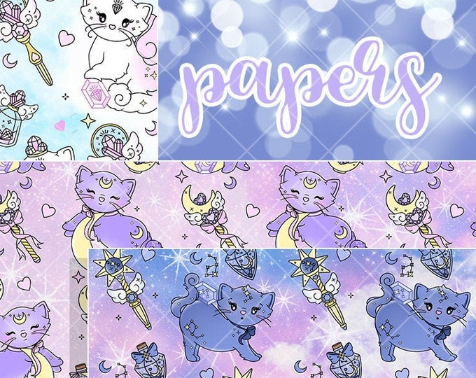 Kitten Papers - SOLD PER SHEET or Trio