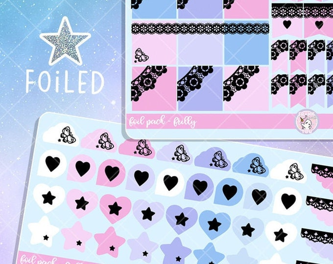 Frilly - Foiled Basics Planner Sticker Pack - 75+ Stickers