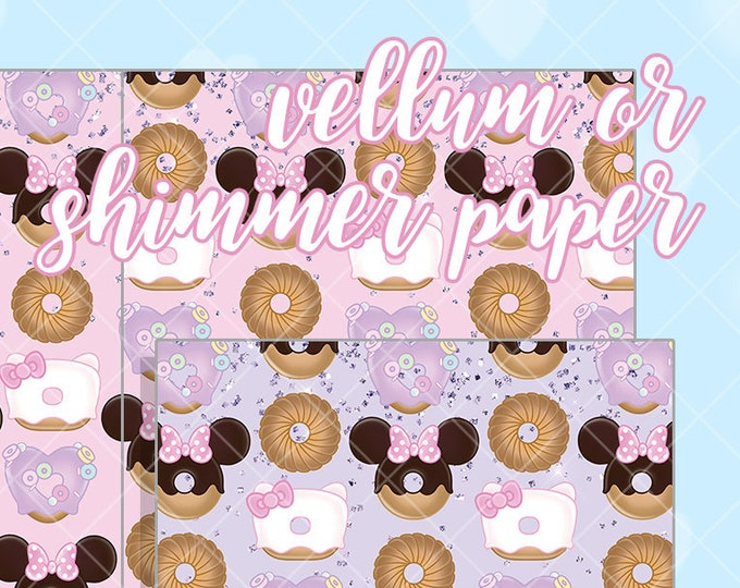 Chubby Donut Papers - Select Vellum or Shimmer Paper