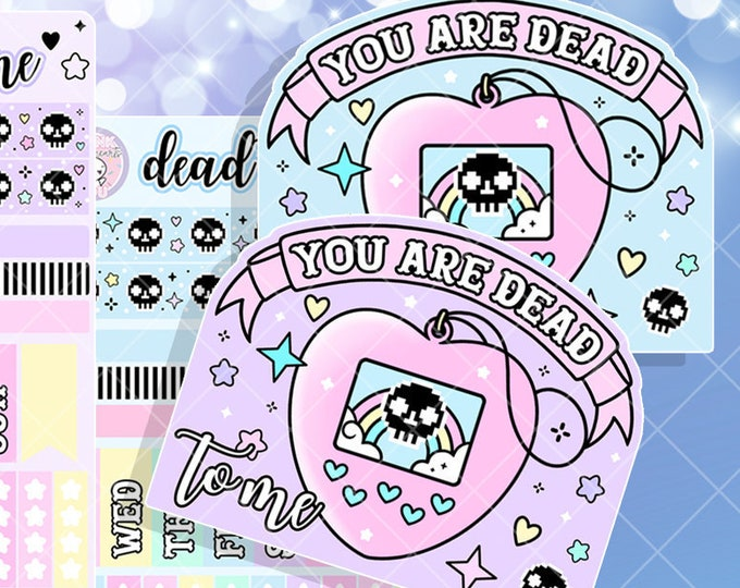 Tamagotchi Dead to Me  - Hobo Weeks Sticker Kit