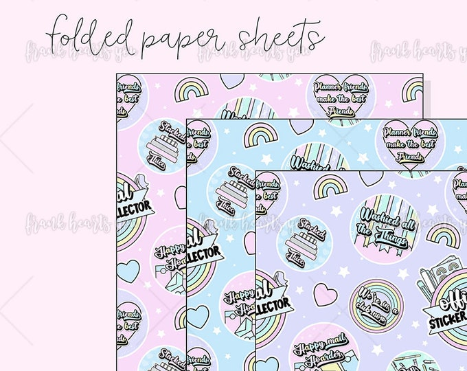 Sticker Collector - 3 Pack Folded Papers