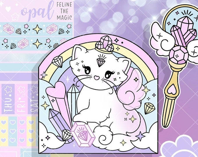 Opal the Crystal Kitten Collection - SOLD PER ITEM!