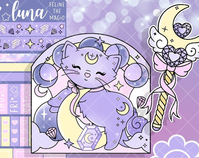 Luna the Moon Kitten Collection - SOLD PER ITEM!