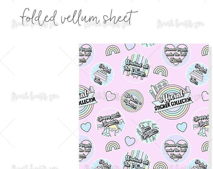 Sticker Collector - 1 Sheet Folded Vellum