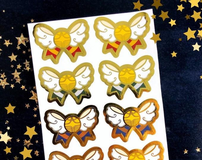 Snitch Bow House Color Gold Foil Seals
