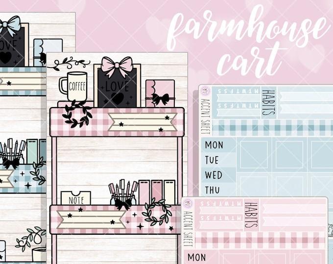 Farmhouse Cart Hobo Weeks Sticker Kit - FOILED