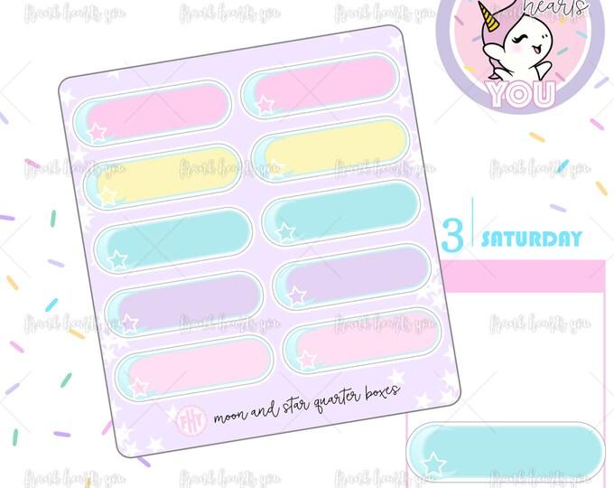 Moon & Star Quarter Boxes - Mini Sheet
