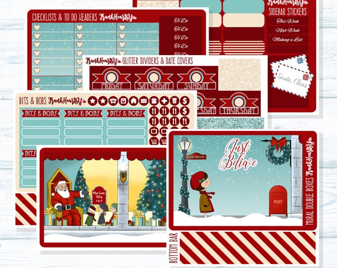 Miracle on 34th Street Planner Sticker Set - Full-Cover EC Vertical - 6 Sheets