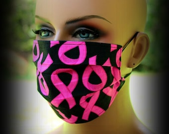 Breast Cancer Mask Etsy