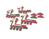 Llama Patch, Llama Applique, Lot of 8 Llamas, Southwestern Patch, Llama Appliques, Embroidered Applique, Red Green Brown, Pyramid Appliques