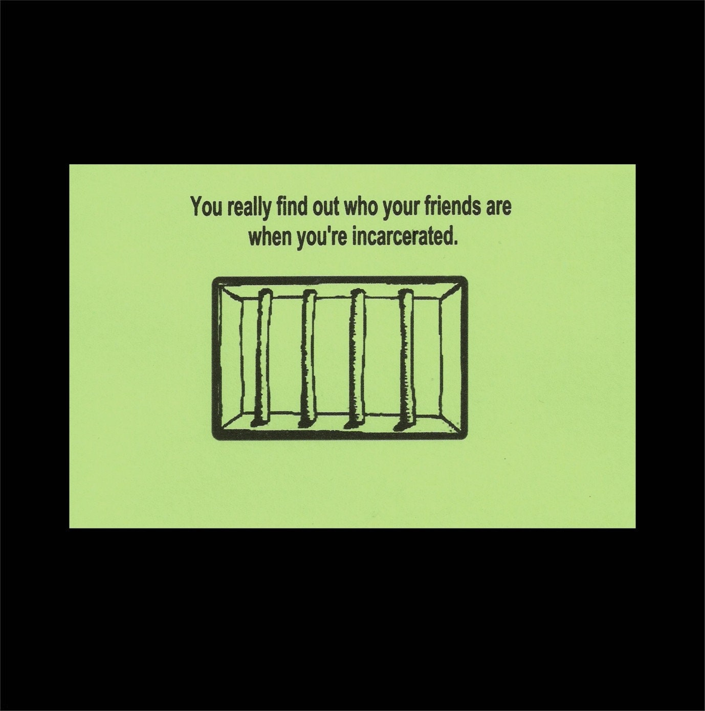 Prison Greeting Card Humorous Card Jail Card Incarceration Etsy