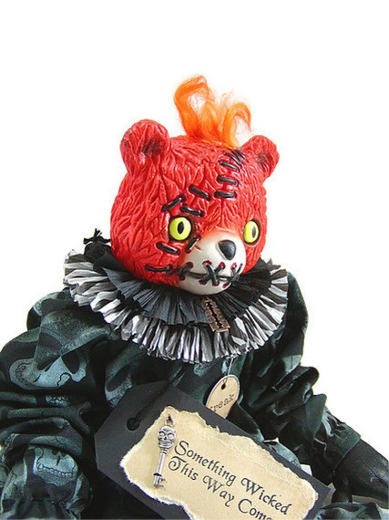 Halloween Doll Bear Doll Creepy Doll Gothic Teddy Bear Etsy