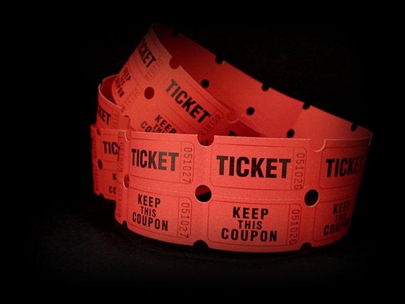 raffle tickets 25 tickets red raffle tickets scrapbook etsy