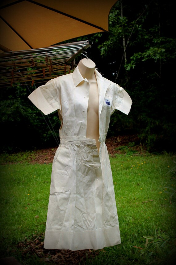 1940s Nurse, Vintage Nurse Dress, 1950s Nurse, Nur