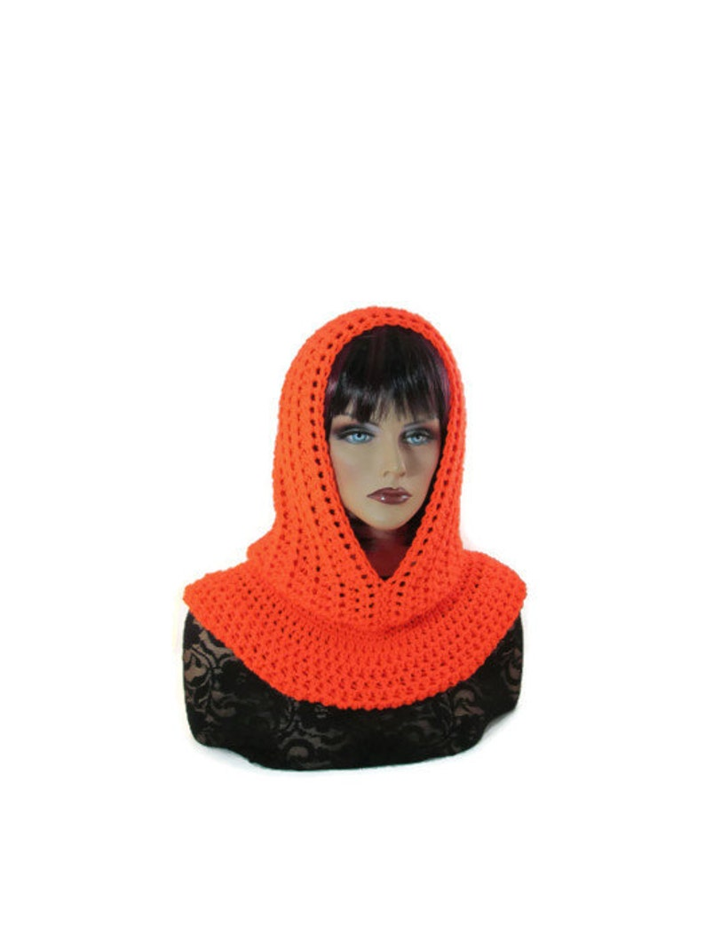 6dc1d211dc9 Neon Orange Scarf Womens Scarf Hunters Hat Fishermans Hood