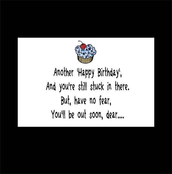 Inmate Birthday Card Prison Greeting Card Humorous Card Etsy