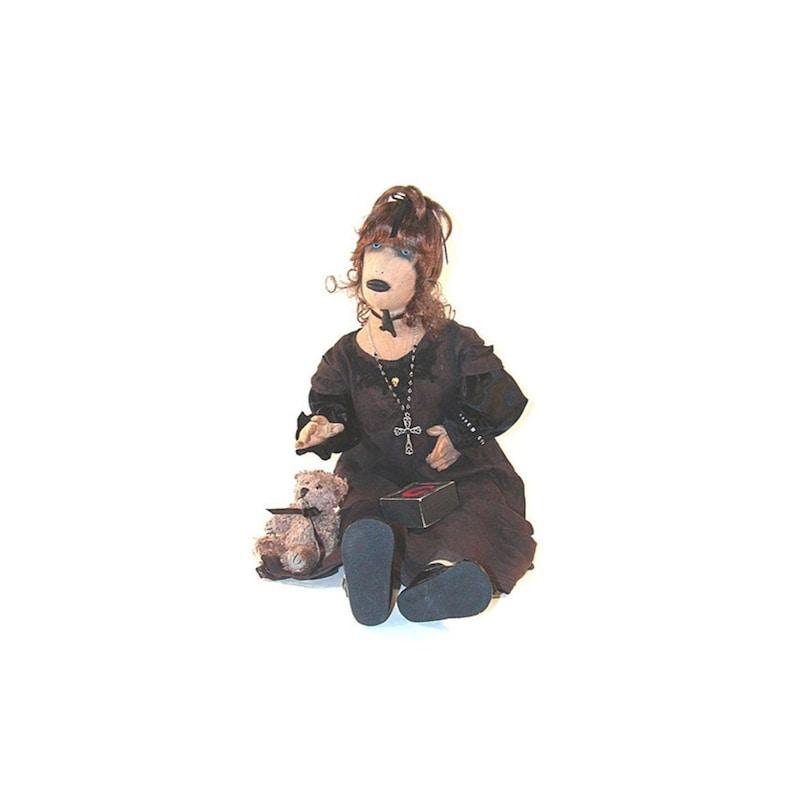 cb7d433a8 Gothic Baby Doll Gothic Doll Baby Doll Primitive Doll   Etsy