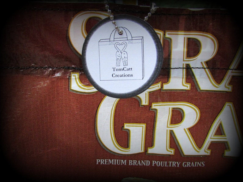 Grocery Bag Chicken Feed Bag Market Tote Feed Sack Bag Brown Tote Grain Feedsack Tote Feed Sack Tote Recycled Feed Bag Feedsack Bag