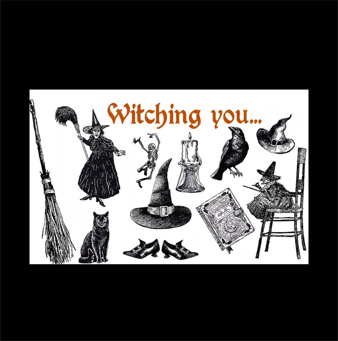 Witch Greeting Card Halloween Card Humorous Card Witch